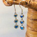 Hearts Blue Opal